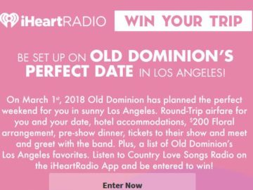 iHeartRadio Go On Old Dominion's Perfect Date in Los Angeles! Sweepstakes