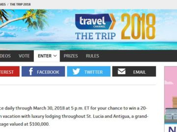 Travel channels sweepstakes