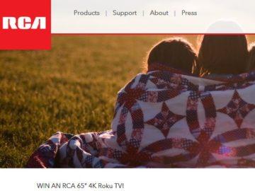 Win a RCA 65″ 4K Roku TV