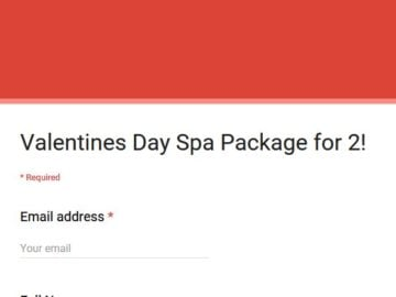 "Latina's ""Couples Valentine's Day Spa Package"" Sweepstakes"