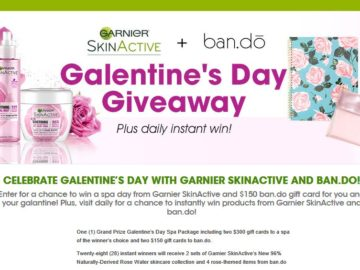 Garnier SkinActive and ban.do Galentine's Day Instant Win Sweepstakes