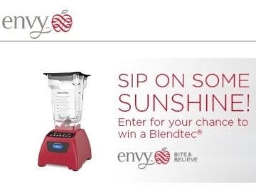 Envy Sunshine Smoothie Sweepstakes