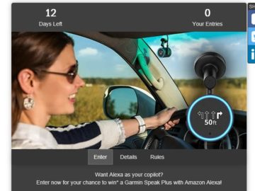 Win a Garmin Speak Plus with Amazon Alexa
