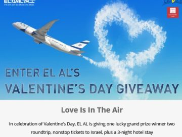 EL AL Israel Airlines USA Valentine's Contest