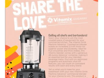 Win a Vitamix Advance Commercial Blender