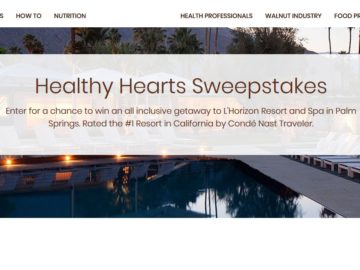 California Walnuts Simple Steps for Healthy Hearts Sweepstakes (Limited States)