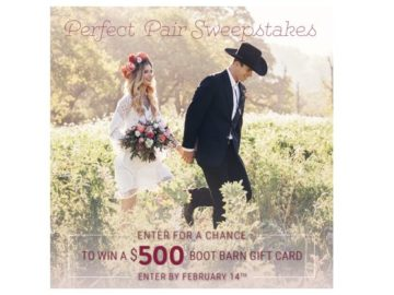"Boot Barn ""Perfect Pair"" Sweepstakes"