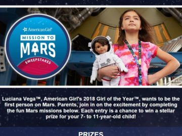 Scholastic Mission to Mars Sweepstakes