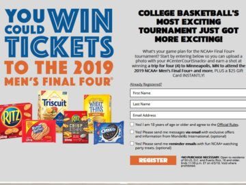 Nabisco Center Court Snacks Instant Win Sweepstakes