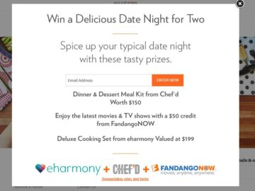 Chef'd Dinner Date Sweepstakes