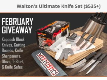 Win a Walton's Ultimate Knife Set