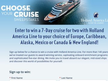 Holland America Line Cruise Sweepstakes
