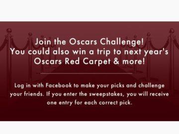 Oscars Challenge 2018 Sweepstakes