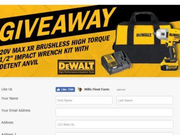 Win a DeWalt 20V Wrench Kit