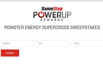 GameStop PowerUp Rewards Monster Energy Supercross Sweepstakes