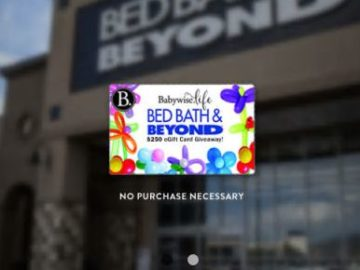 Win a $250 Bed Bath & Beyond Gift Card