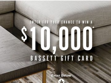 Win a $10,000 Bassett Home Furnishings Store Gift Card