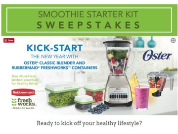"Rubbermaid & Oster Brand's ""Smoothie Starter Kit"" Sweepstakes"