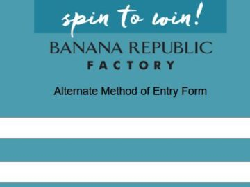 Win a $100 Banana Republic Factory Gift Card