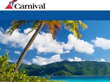 Win a $3,000 Carnival Cruise Line Gift Card
