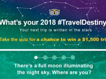 TripAdvisor #TravelDestiny Quiz Sweepstakes