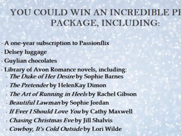 Avon Romance Books Winter Sweepstakes