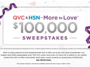 QVC & HSN – More to Love Sweepstakes