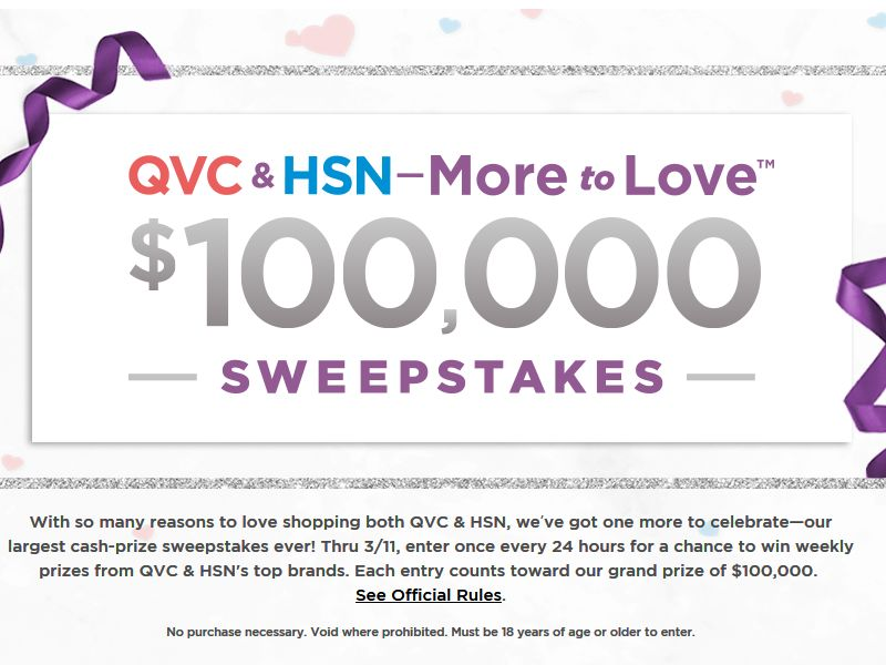 QVC & HSN - More to Love Sweepstakes