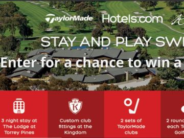 "Hotels.com and TaylorMade ""Stay and Play"" Sweepstakes"