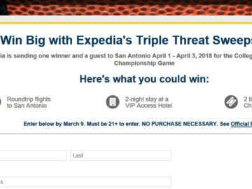 Expedia's Triple Threat Sweepstakes