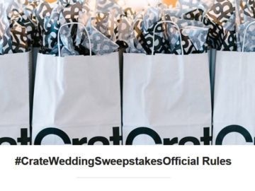 #CrateWedding Sweepstakes (Instagram)
