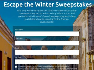 Intrepid Travel Escape Winter Sweepstakes