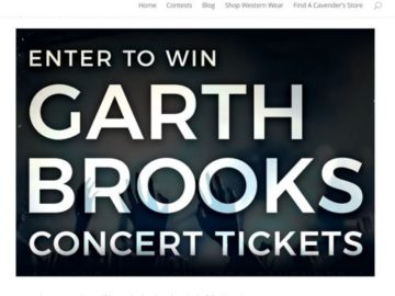 Cavender's Houston Rodeo Garth Brooks Giveaway