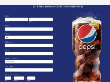 2018 Pepsi Brand Integration Sweepstakes