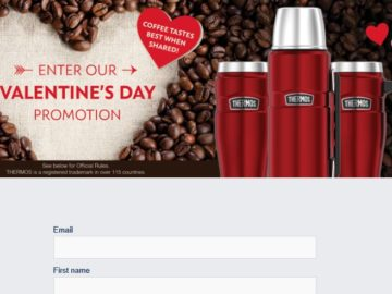 Thermos Valentine's Day Sweepstakes (Facebook)