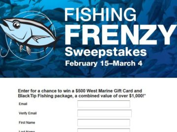 Win a $500 West Marine Gift Card and BlackTip Fishing package!