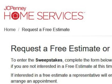 JCPenney Home Services Sweepstakes