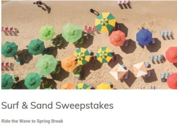 Surf + Sand Sweepstakes