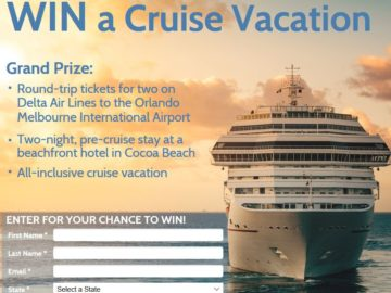 Florida's Space Coast Cruise Vacation Sweepstakes