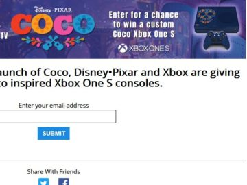 Xbox One S Coco Custom Console Sweepstakes