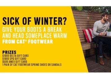 CAT Footwear Enter to Win a Weekend Trip Sweepstakes