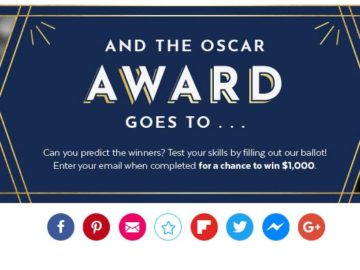 PopSugar Oscars Awards Sweepstakes