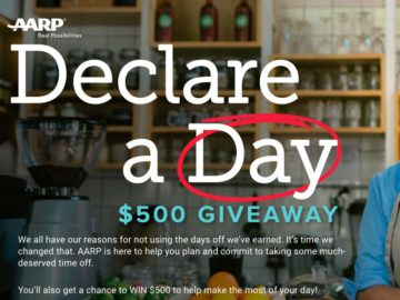 AARP's Declare a Day $500 Giveaway (45+)