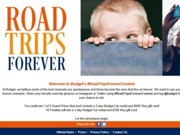 Budget #RoadTripsForever Contest (Twitter/Instagram)