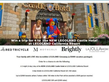 LEGOLAND Castle Hotel Giveaway Sweepstakes