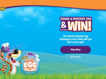 Cheetos Mystery Egg Challenge Sweepstakes (Code)
