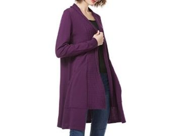 INSTANTLY WIN a KNITBEST Women's Cable Long Sleeve Knitwear Cardigan