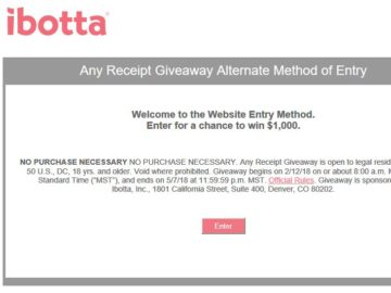 Win $1,000 from Ibotta!