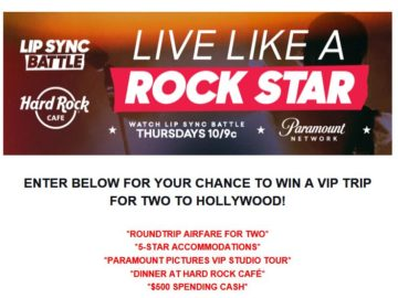 Lip Sync Battle Live Like a Rock Star Sweepstakes