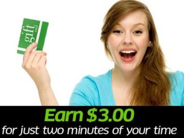 Do you shop at Amazon? Get a free $3 Visa Card!